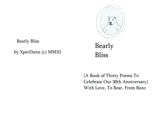 Bearly Bliss - Title/Cover Page